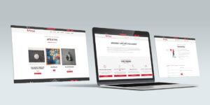 Pagine interne del sito Artisterest